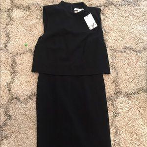 Black Diane Von Furstenberg Midi Dress